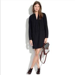 Madewell Black Director Shift Dress